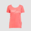 WMS written coral tee t front