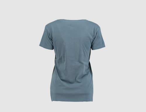 WMS written tee grey t back