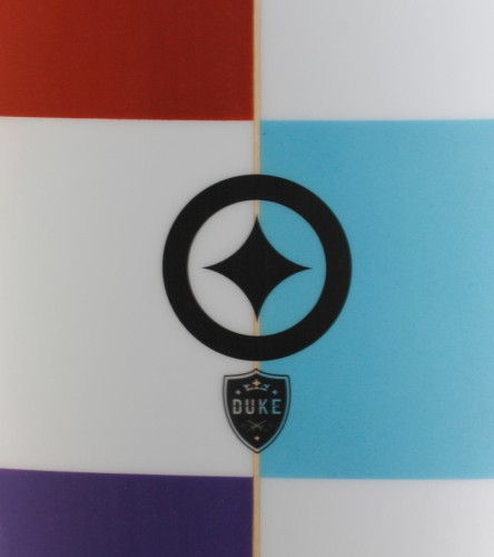 DUKE 6'10 rust purple color blocking detail