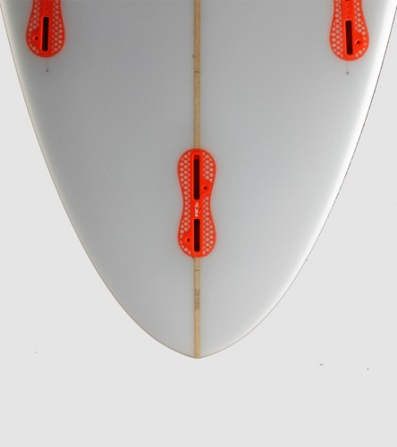 SuperSix 6'4 orange trim bottom detail