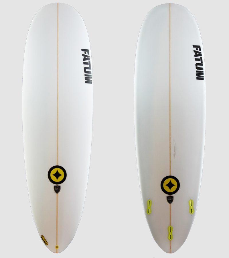 "Duke 6'6"" Yellow Trim"