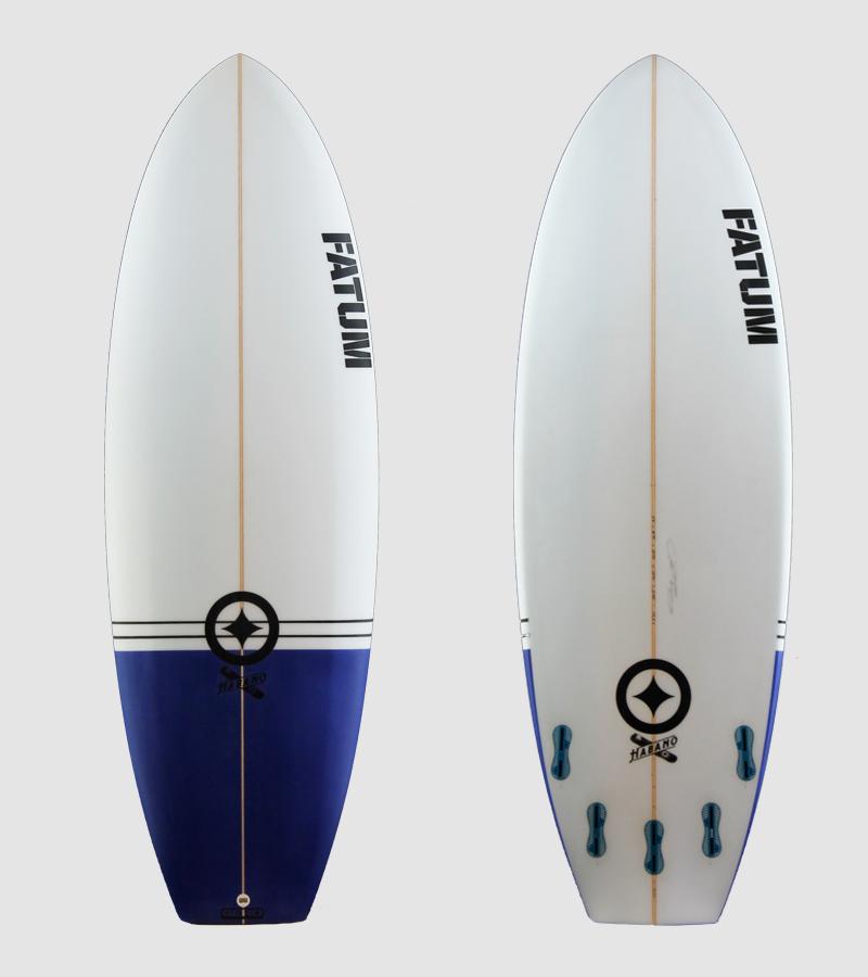 "Habano 5'9"" blue tail/ black pin lines"