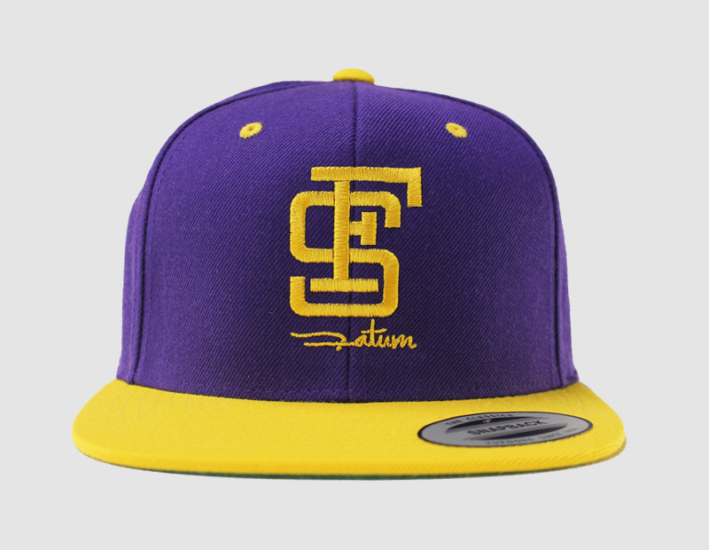 Cap snapback yellow_front
