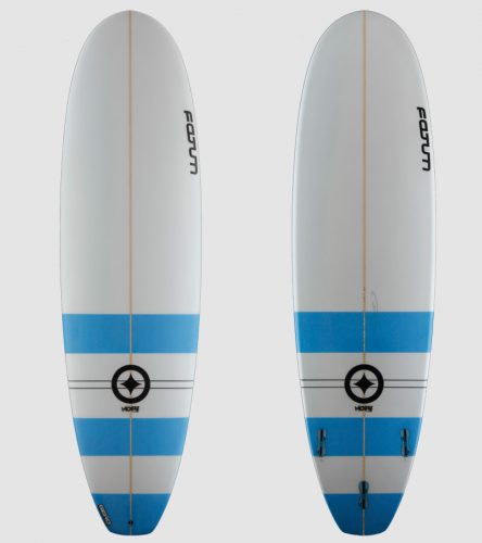 "Moby 6'8"" blue stripes"