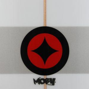 Moby 7'0 grey stripes detail