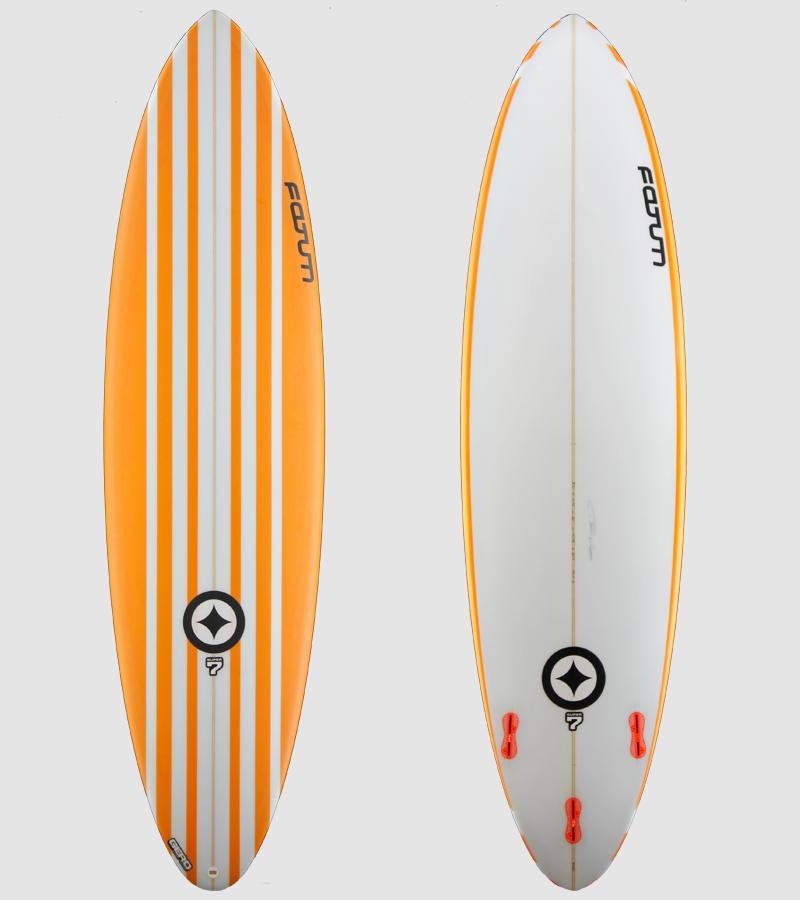 Super7 7'0 orange stripe