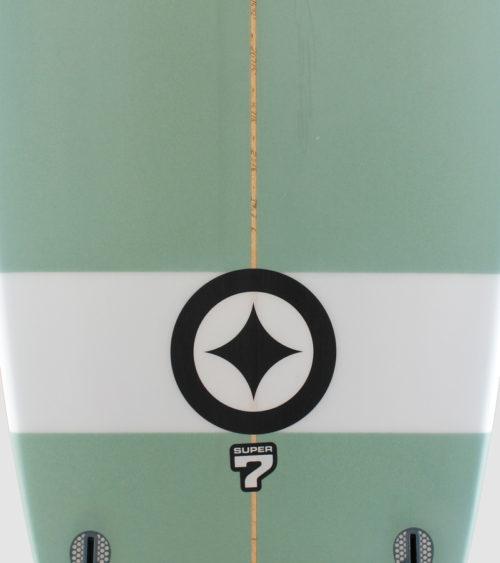 SUPER7mint white stripe detail