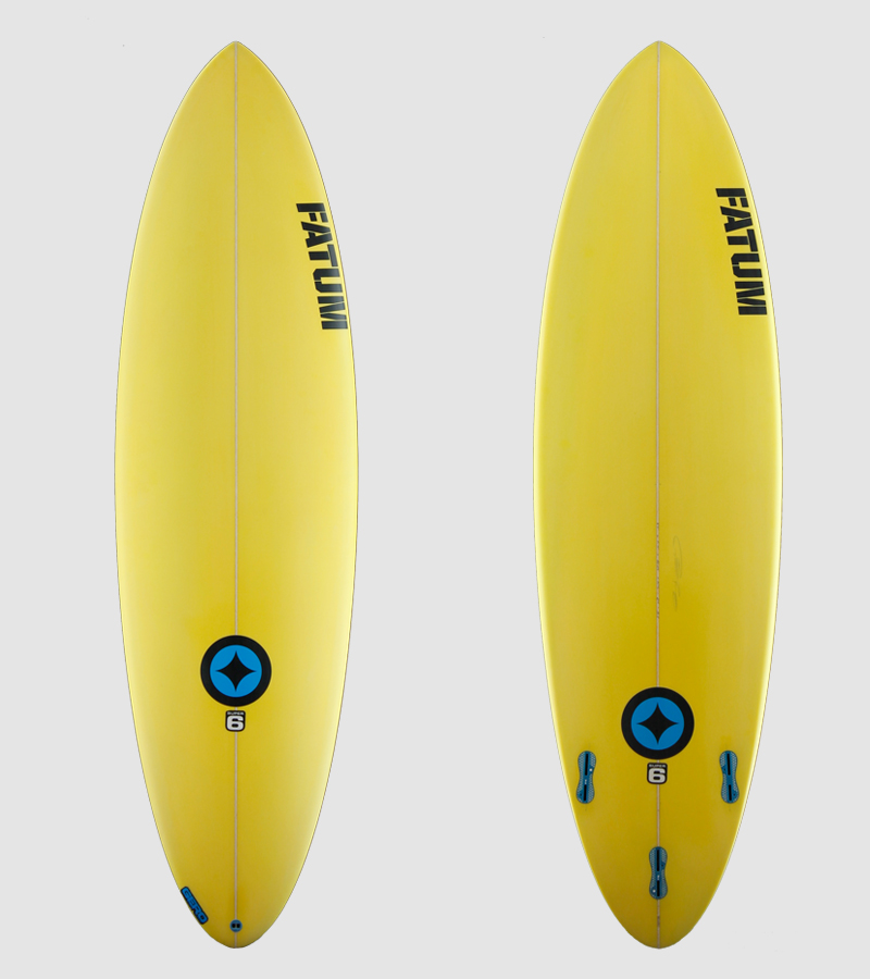 "SUPER6 6'4"" yellow"