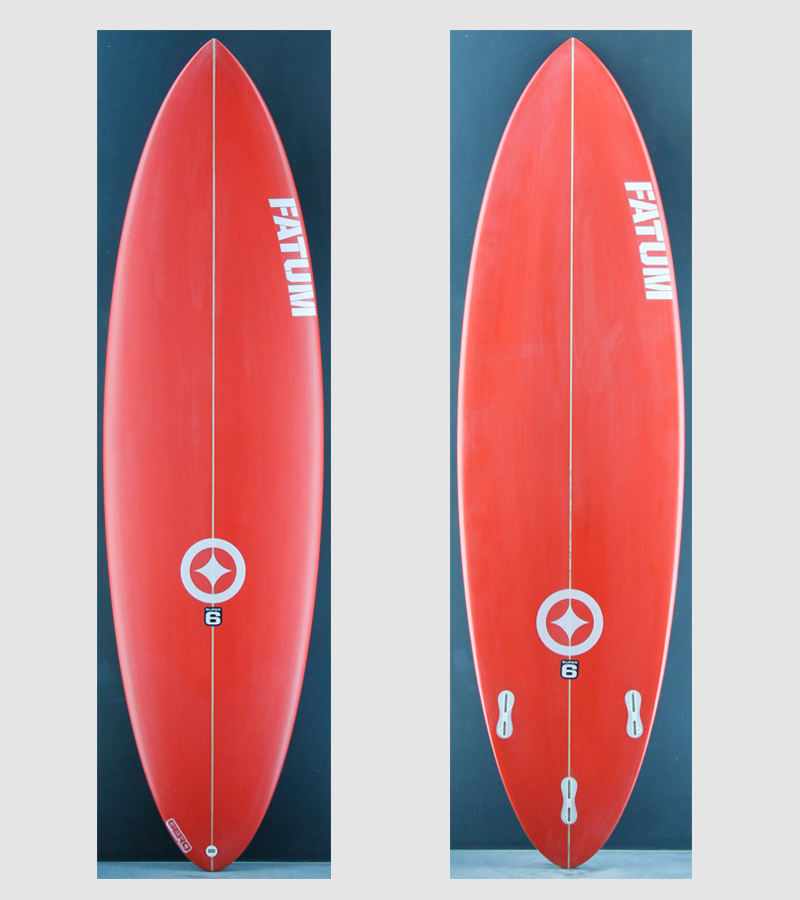 fatum supersix 6 4 red fatum surfboards