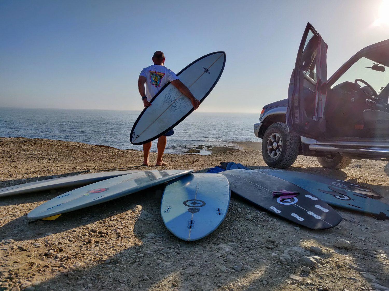 Different surfboards, different mindset...